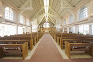 a church interior looking clean