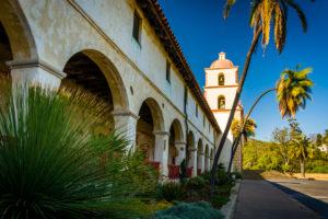 an exterior shot of a church